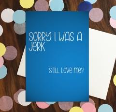 Sorry I was a jerk