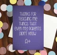 Thanks for teaching me