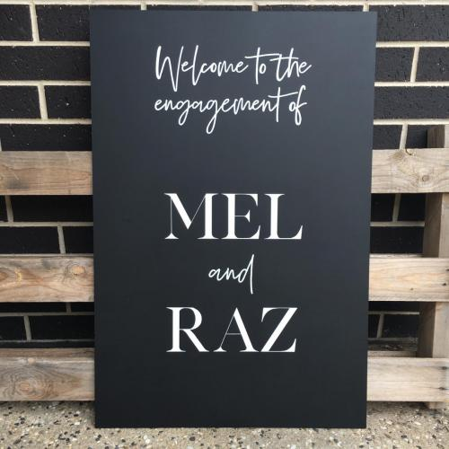From $130<br>Extra Large Chalkboard Welcome Sign<br> Approx. A1 / 600 x 900mm