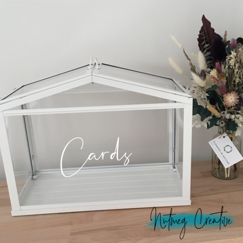 **FREE HIRE**<br>White & Glass Wishing Well<br>Free Hire with any other sign hire<br>Can be personalised for additional fee<br>