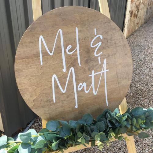 From $130<br>Extra Large Round Wooden Welcome Sign<br> Approx. 600mm