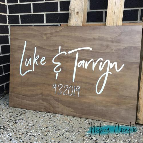 From $130<br>Extra Large Wooden Welcome Sign<br> Approx. A1 / 600 x 900mm