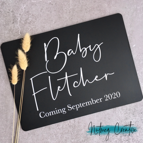 From $30<br>Custom pregnancy announcement